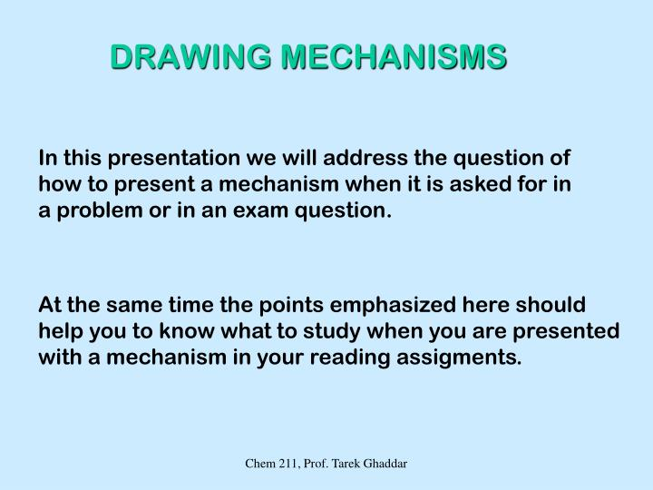 DRAWING MECHANISMS