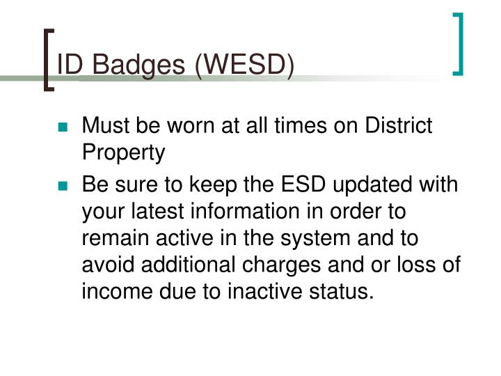 ID Badges (WESD)