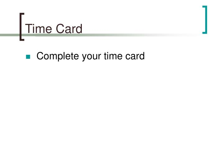Time Card