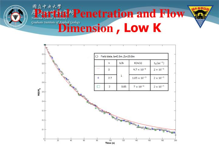 Partial Penetration and Flow   Dimension