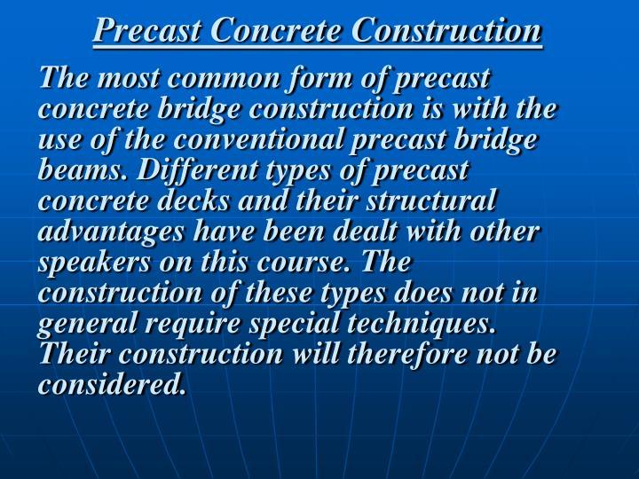 Precast Concrete Construction