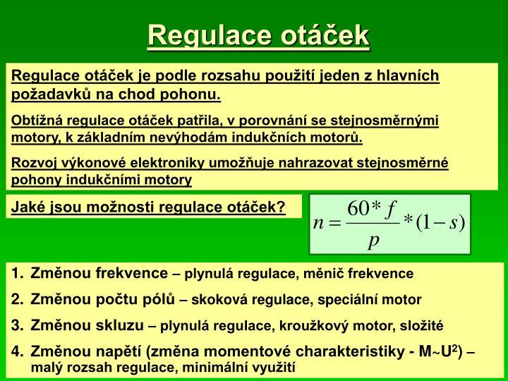 Regulace otáček