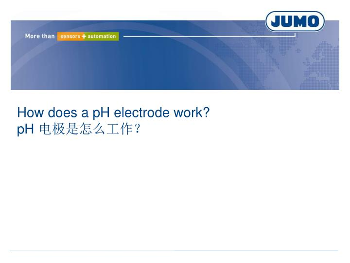 How does a pH electrode work?