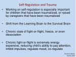 self regulation and trauma