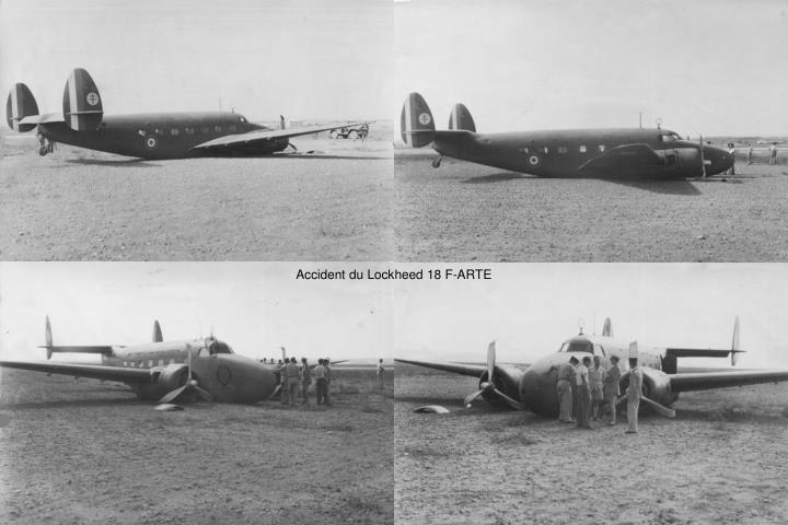Accident du Lockheed 18 F-ARTE