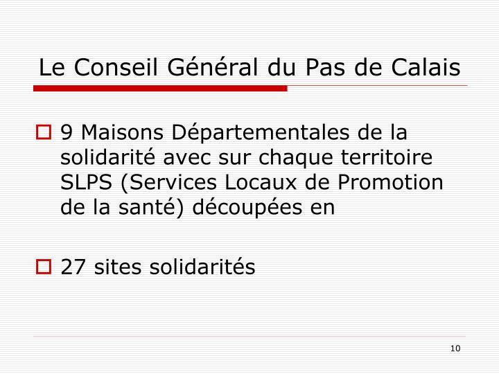 Le Conseil Général du Pas de Calais
