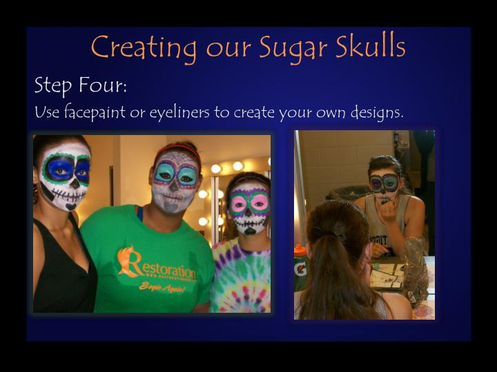 Creating our Sugar Skulls
