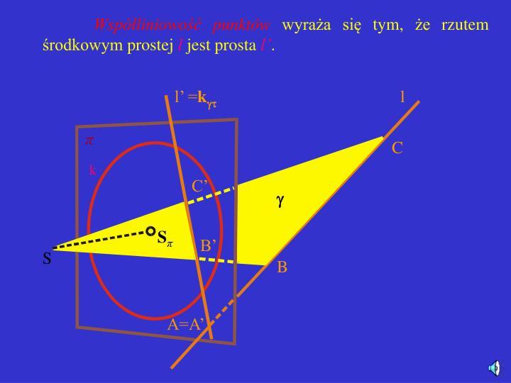 Współliniowość punktów