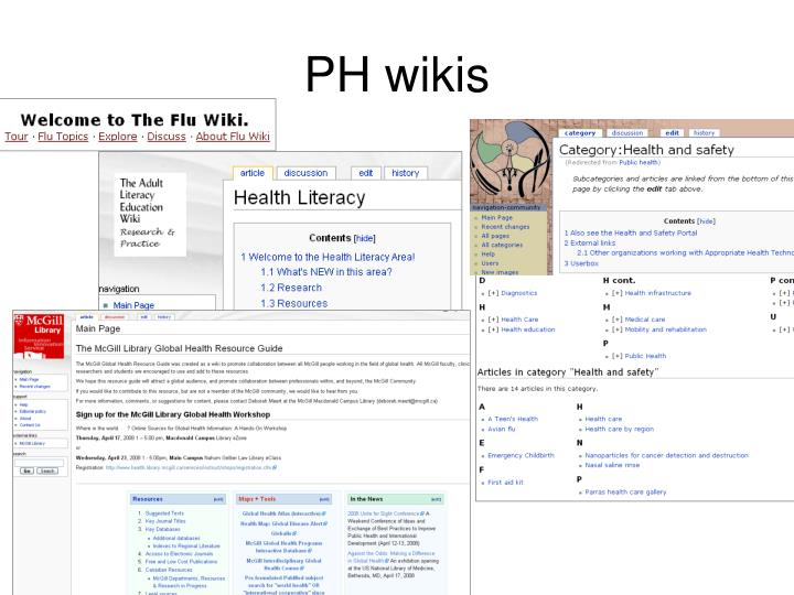 PH wikis
