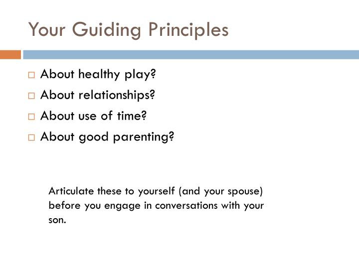 Your Guiding Principles