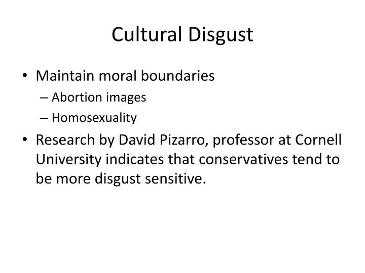 Cultural Disgust