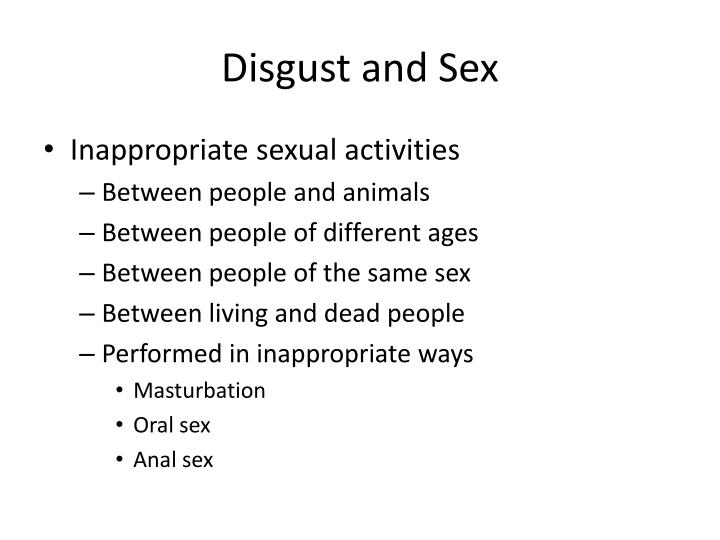 Disgust and Sex