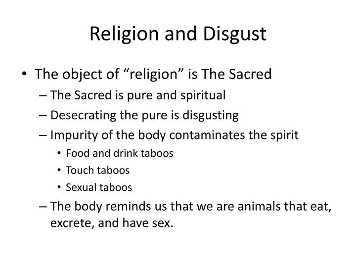 Religion and Disgust