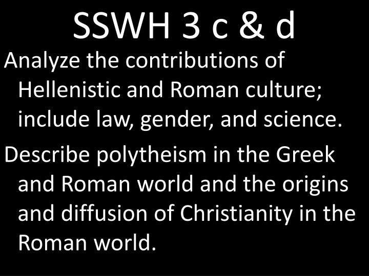 SSWH 3 c & d