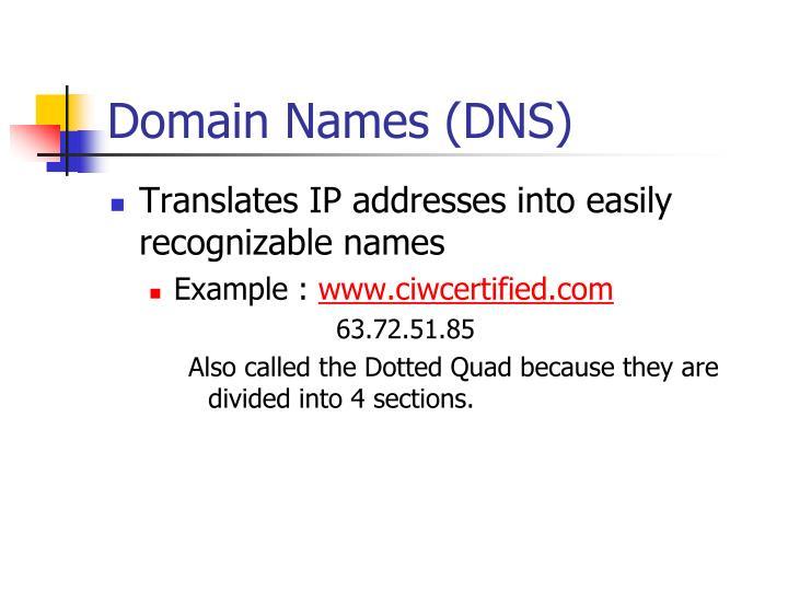 Domain Names (DNS)