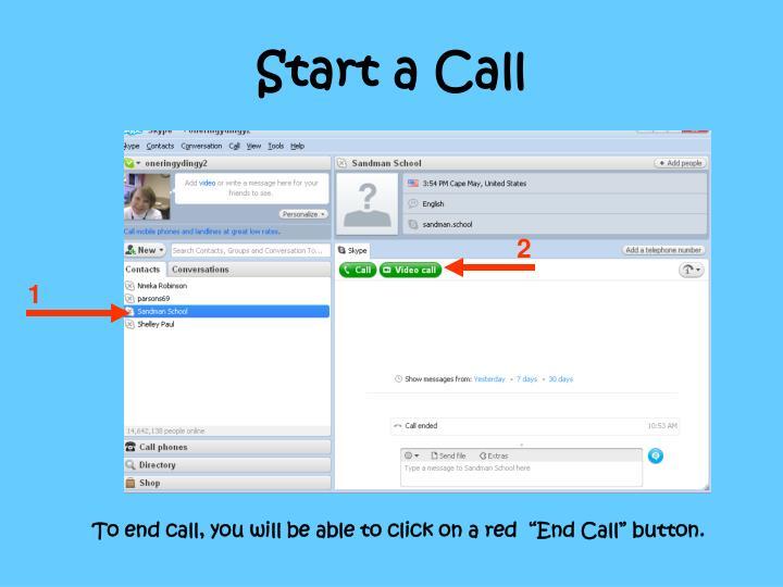 Start a Call