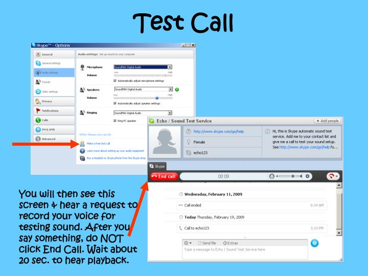 Test Call