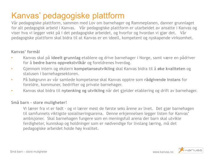 Kanvas' pedagogiske plattform