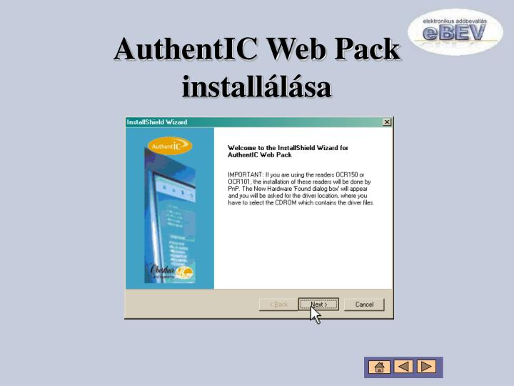 AuthentIC Web Pack installálása