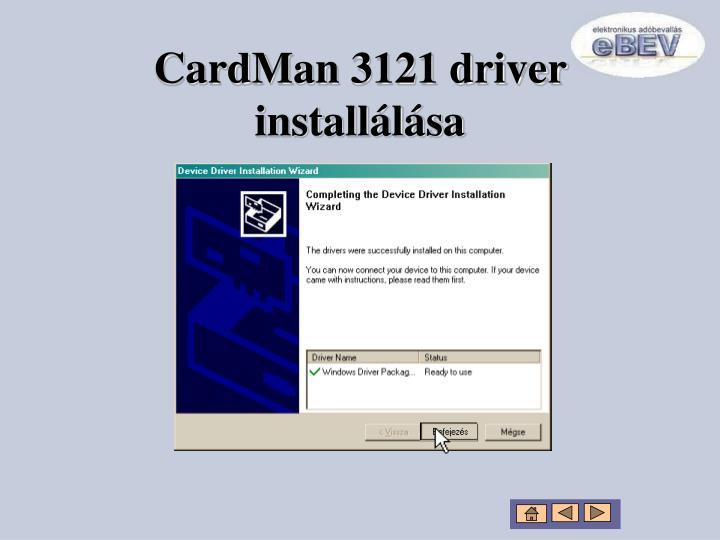 CardMan 3121 driver installálása