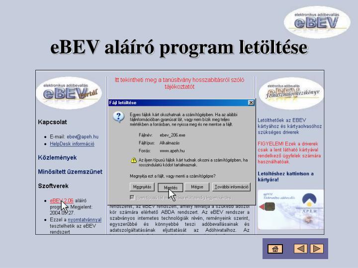 eBEV aláíró program letöltése