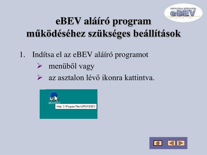 eBEV aláíró program