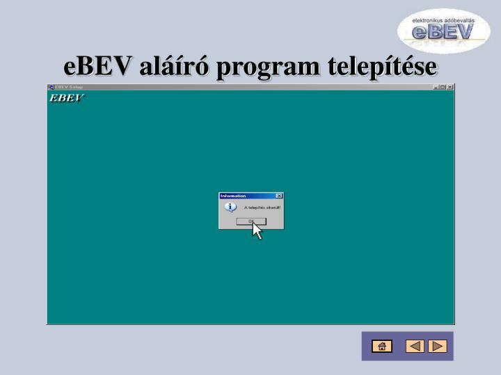 eBEV aláíró program telepítése