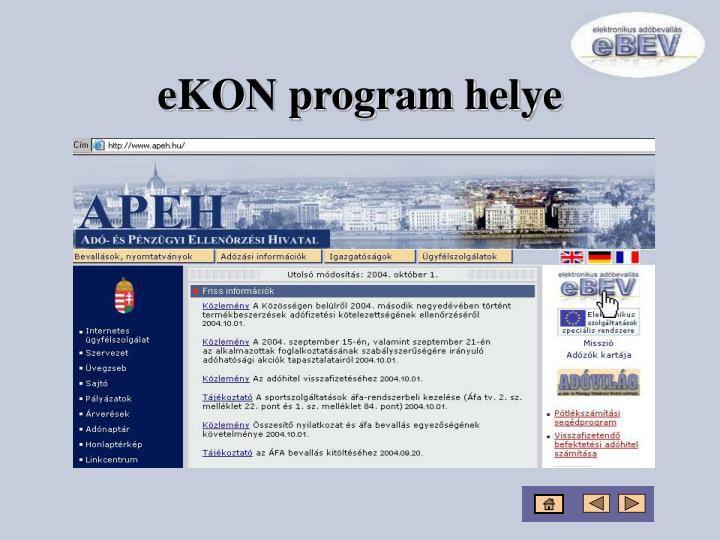eKON program helye