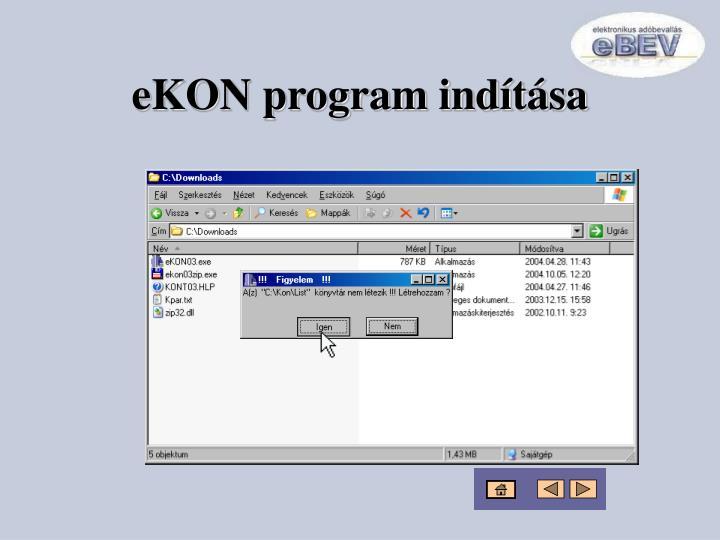 eKON program indítása