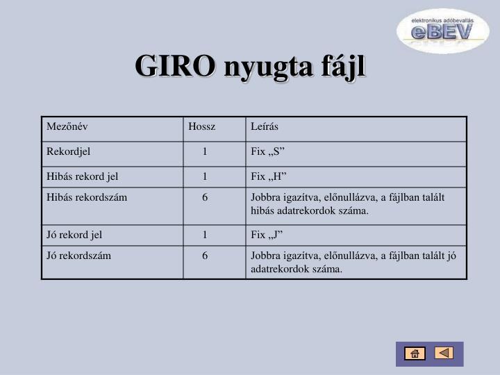 GIRO nyugta fájl
