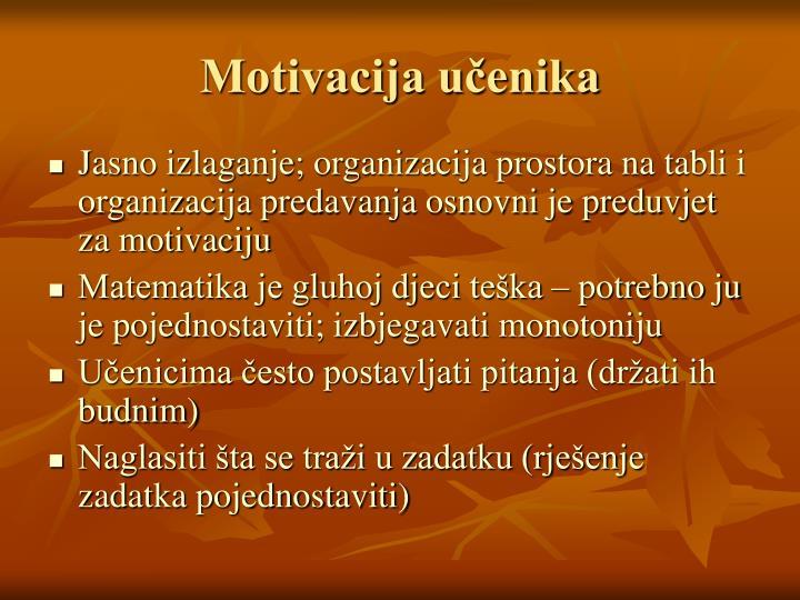 Motivacija učenika