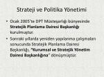 strateji ve politika y netimi