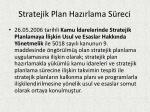 stratejik plan haz rlama s reci