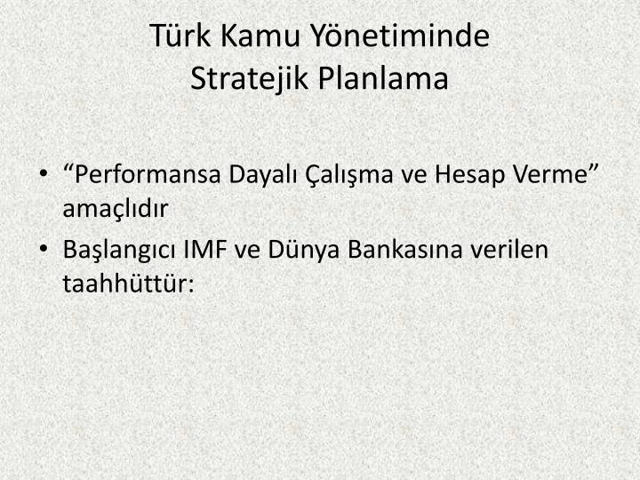 Türk Kamu Yönetiminde