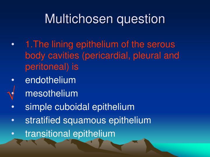 Multichosen question