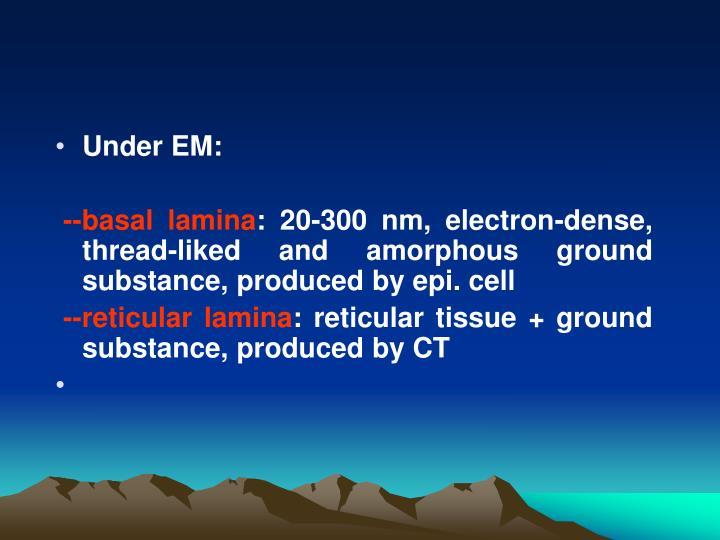 Under EM: