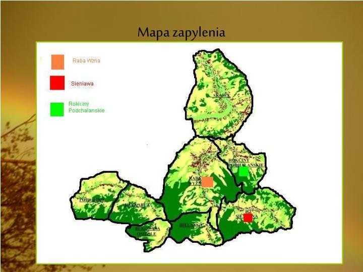 Mapa zapylenia