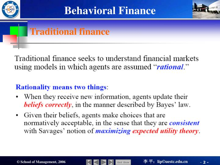 Traditional finance