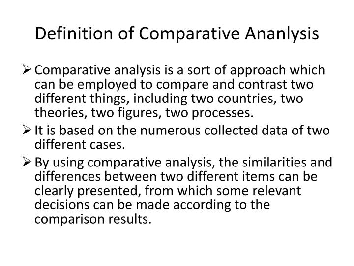 Definition of Comparative