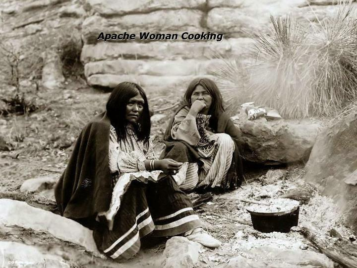 Apache Woman Cooking