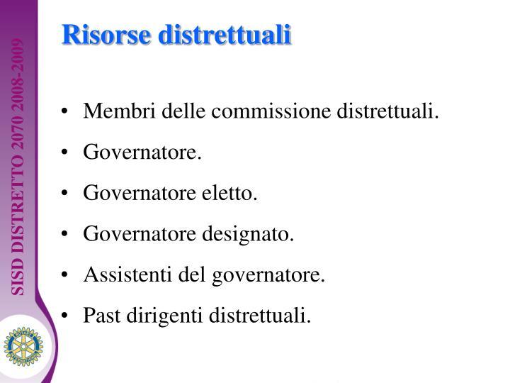 Risorse distrettuali