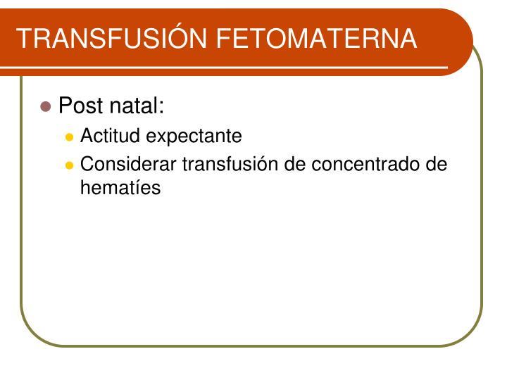 TRANSFUSIÓN FETOMATERNA