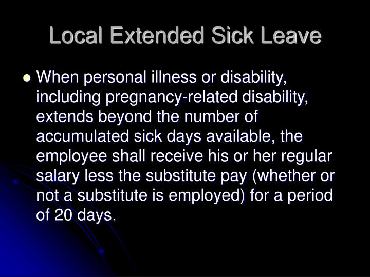 Local Extended Sick Leave