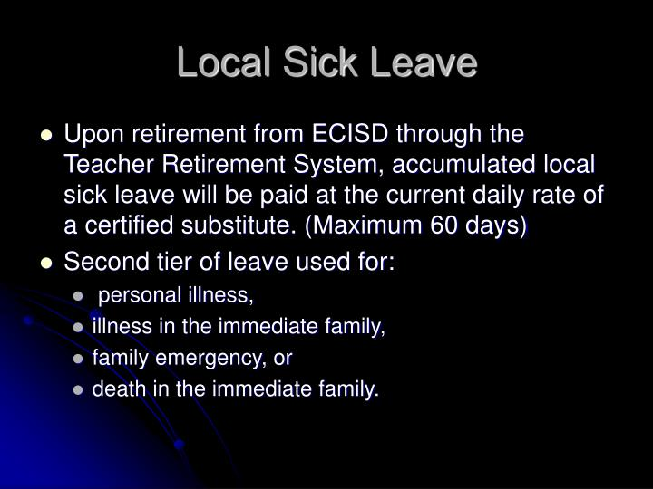 Local Sick Leave