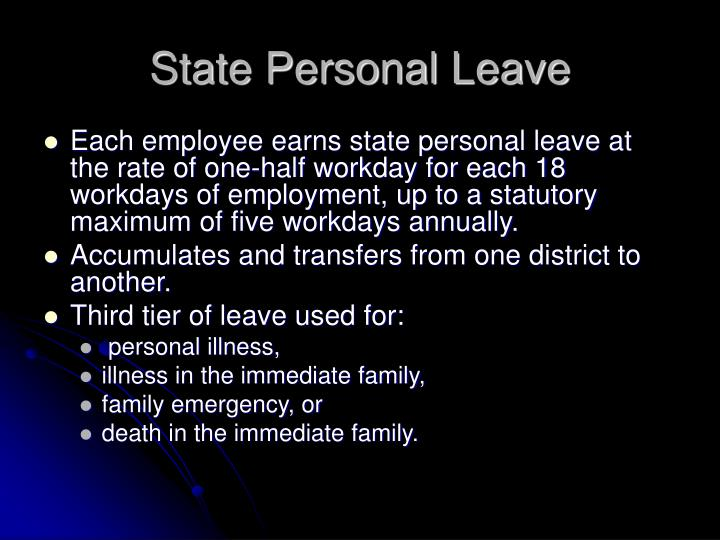 State Personal Leave