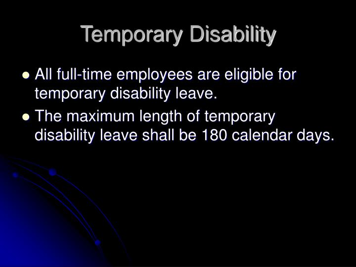 Temporary Disability