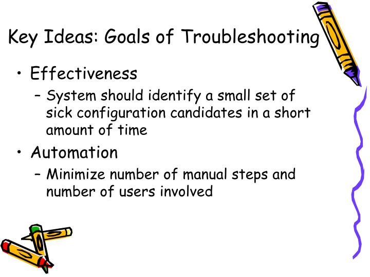 Key Ideas: Goals of Troubleshooting