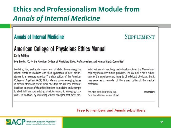 Ethics and Professionalism Module from