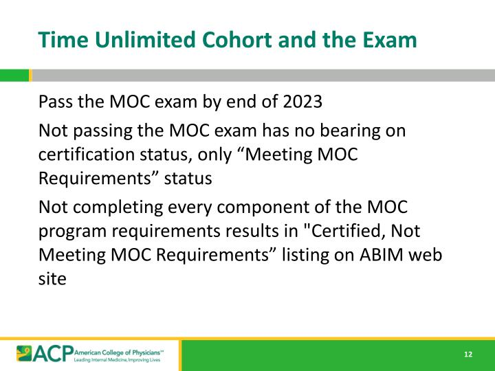 Time Unlimited Cohort and the Exam