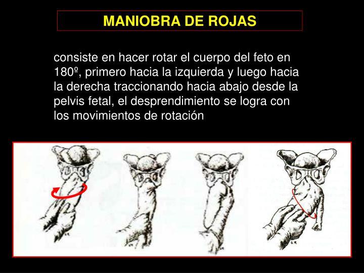 MANIOBRA DE ROJAS
